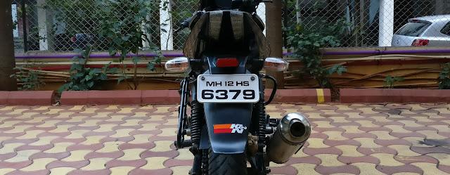 K&N sticker on Bajaj Pulsar 220