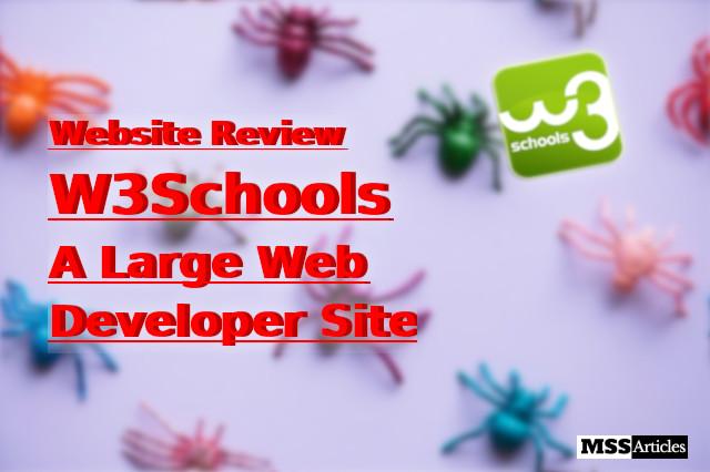 W3Schools - Website Review - Large Web Developer Site