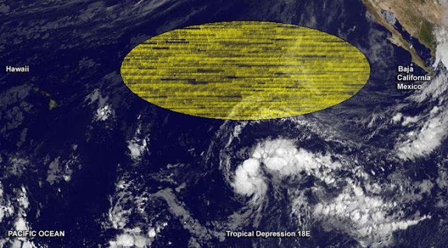 Satellite Spots New Depression Exactly Between Baja California and Hawaii