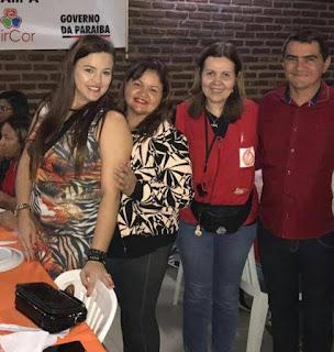 Prefeito de Picuí e secretária Janaína Almeida recepcionam a caravana do coração em Picuí