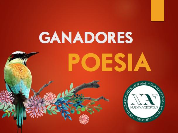 Ganadores Poesía Certamen de Literatura Nueva Acrópolis Santa Ana, El Salvador