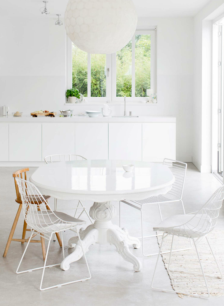 En estado de rachel grandes mesas redondas para la cocina for Mesa redonda de madera para cocina