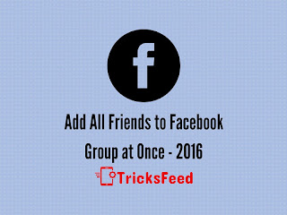 Add all friends to facebook group at once