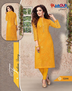 GLAMOUR HEER KURTIS KURTA TOPS WHOLESALER LOWEST PRICE SURAT GUJARAT