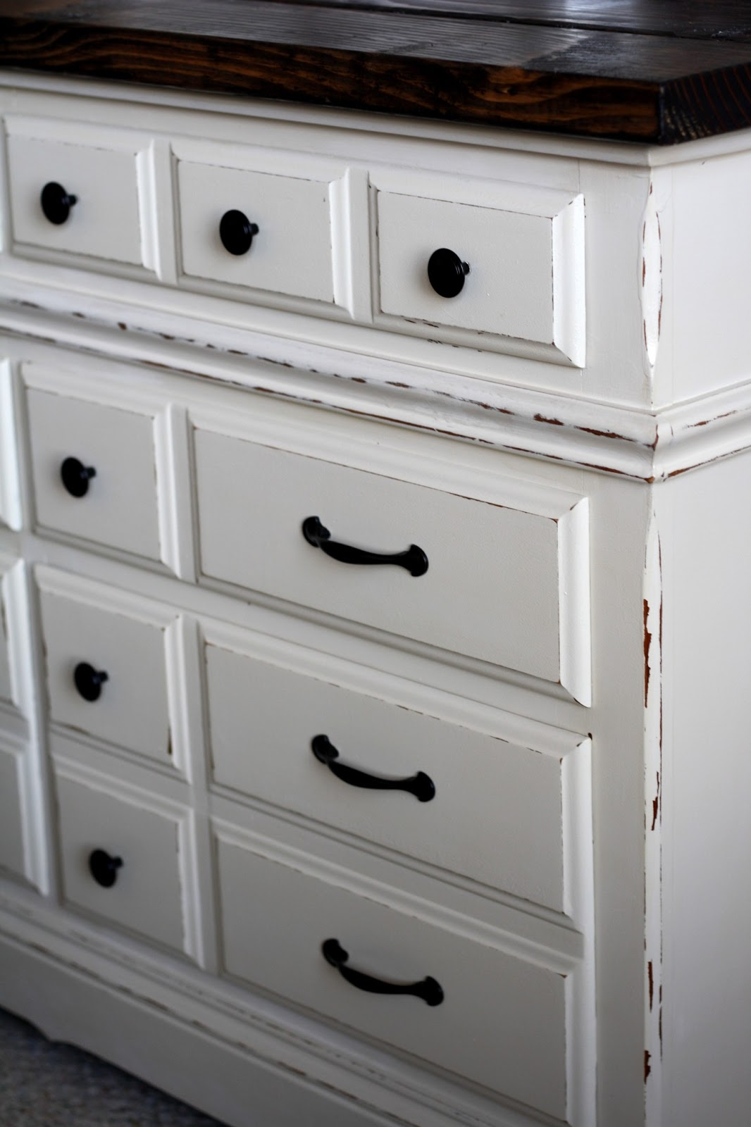 Relatively the semi-frugal life: diy dresser with rustic wooden top AM15