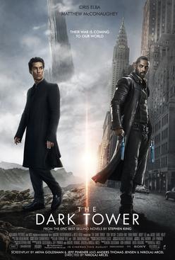 Dark Tower movie poster, Idris Elba, Stephen King, Trailer review