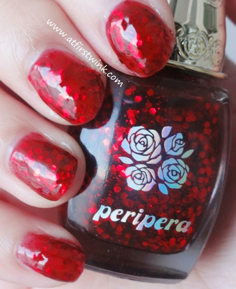 Peripera nail polish RD704 swatches