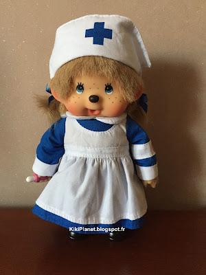 Monchhichi Nurse beige référence 258520 - sekiguchi- Monchhichi infirmière beige - Candy