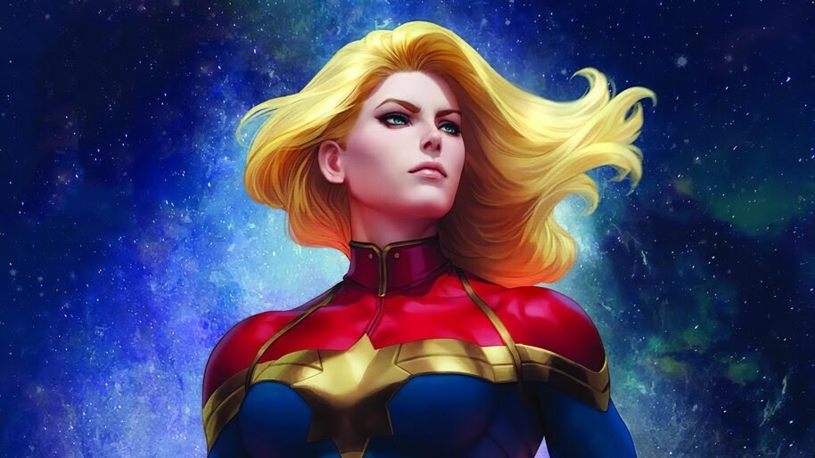 Captain Marvel, Comics, Art, 4K, #6.2060