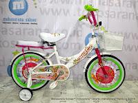 Sepeda Anak United Tom and Jerry Aloha Girl 16 Inci White