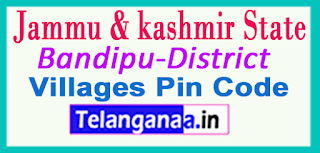 Bandipu District Pin Codes in Jammu & Kashmir State