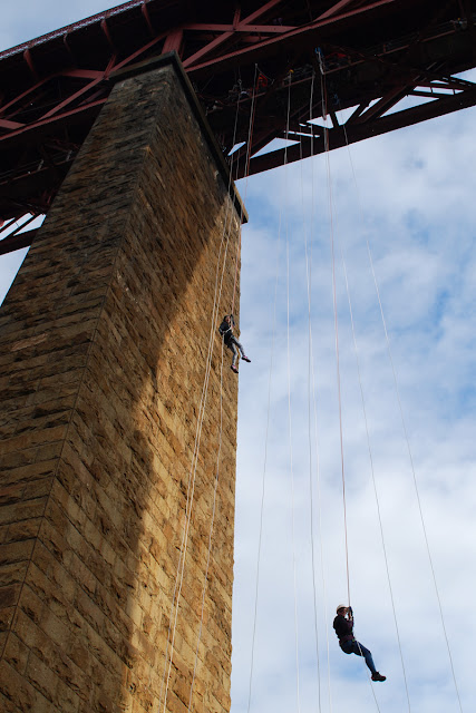 Me - SAMH abseil Forth Rail Bridge
