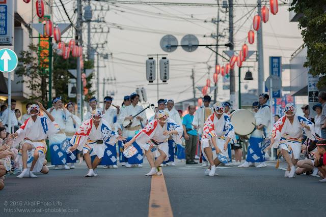 阿波踊りの本場徳島娯茶平の姉妹連、飛鳥連の阿波踊りの写真