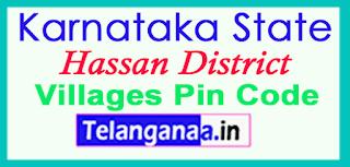 Hassan District Pin Codes in Karnataka State