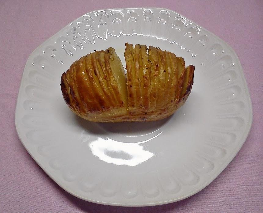 Patata  Hasselback, Asada