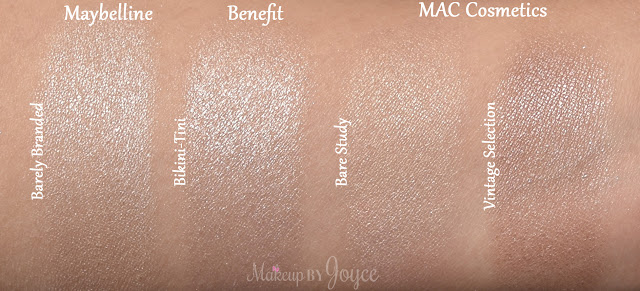 MAC Pro Longwear Bare Study Vintage Selection Cream Eyeshadows Review Swatch