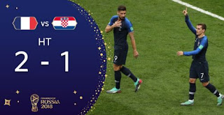 HT: Prancis vs Kroasia 2-1 Video Gol Highlights - Final Piala Dunia 2018