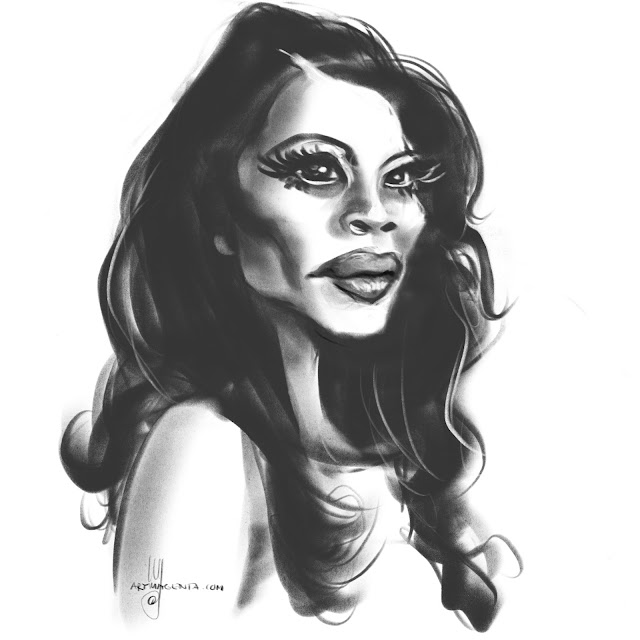 Lucy Liu Caricature by Artmagenta