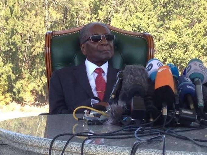 Zimbabwe's Mugabe emerges, rejects Mnangagwa in election