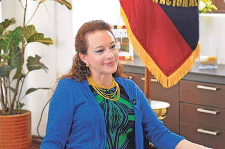 Newly appointed Minister of Foreign Affairs and Human Mobility-Ecuador Mrs. Maria Fernanda Espinosa