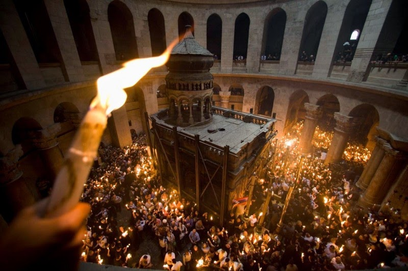 Holy Fire from Jerusalem arrived in Ukraine