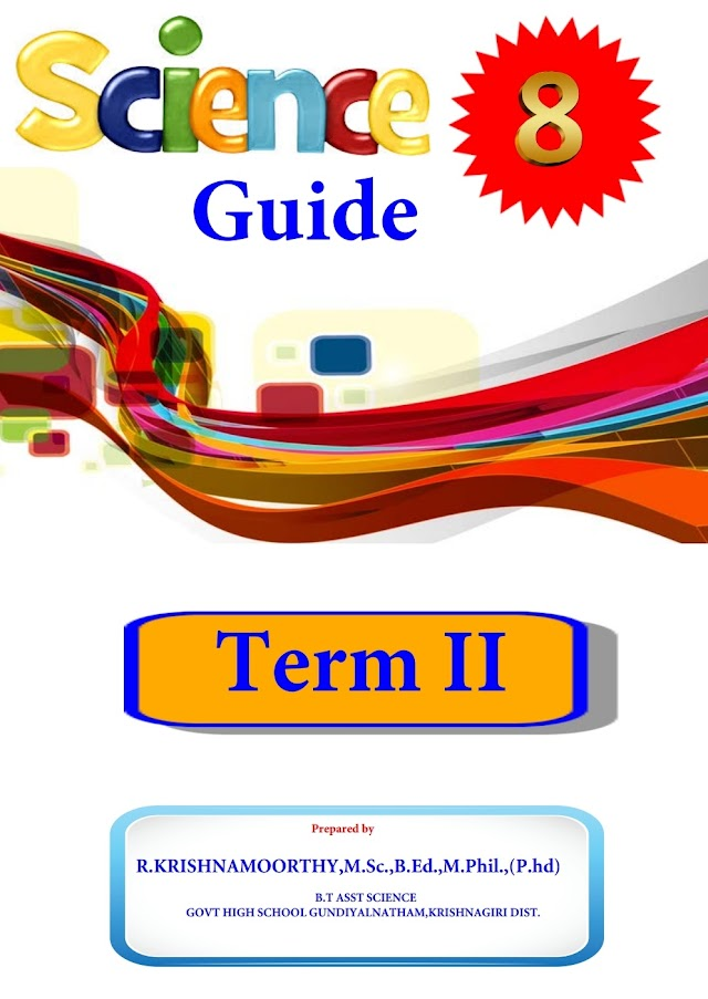 8th Science Guide 1-4 lesson Term-2 (English Medium)