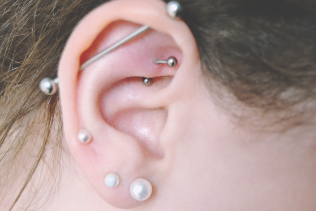 Becky Bedbug My Rook Piercing One Month On