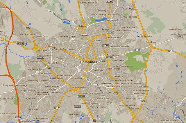 Mapa de Campinas