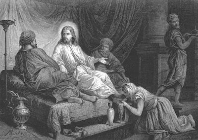 Mary anoints Jesus' feet - Alexandre Bida