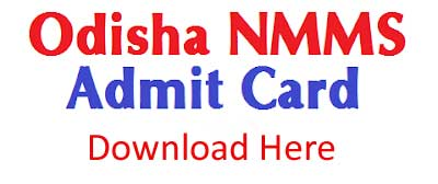 Odisha NMMS Admit Card download