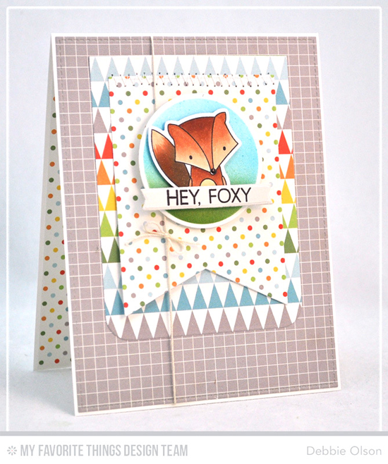 Handmade card from Debbie Olson featuring Sweet Forest Friends stamp set and Die-namics, Circle STAX Set 2, Blueprints 15, Blueprints 24, and Blueprints 27 Die-namics #mftstamps
