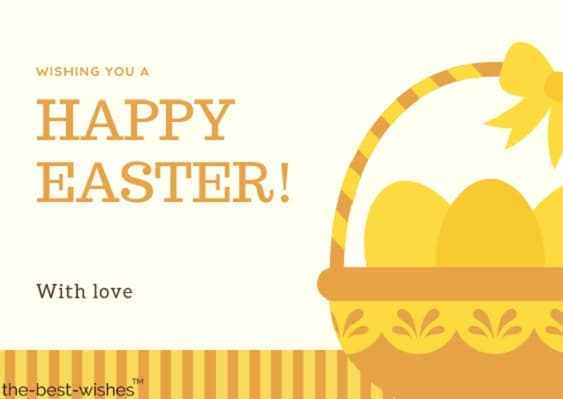 orange basket vector easter card