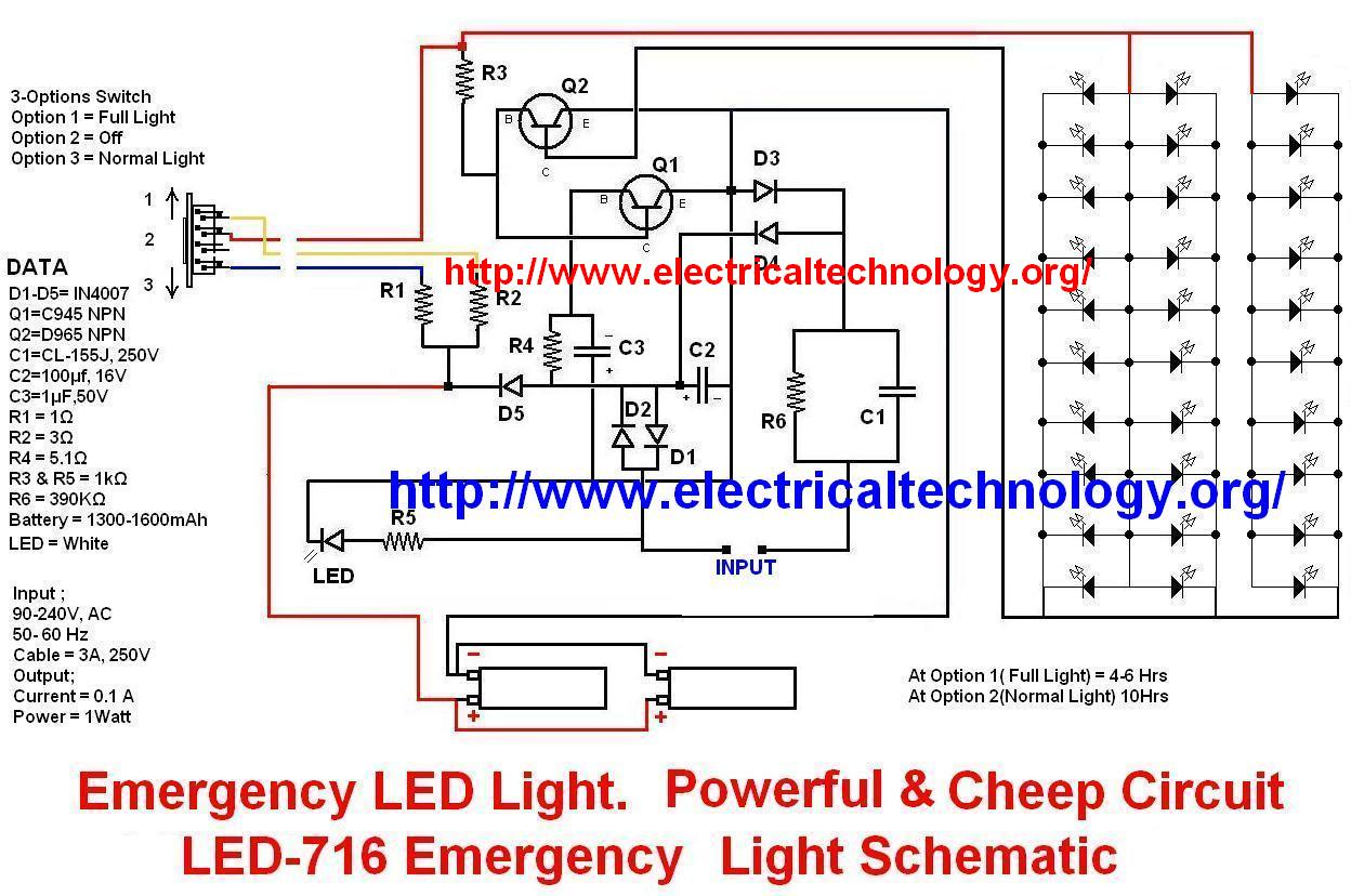 led wiring diagram 9v paragon 8145 20 emergency lights powerful and cheap 716 circuit