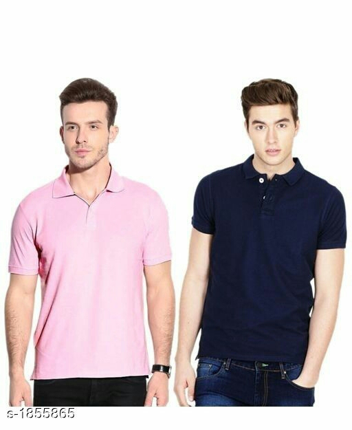 Stylish Polyester Men's T-Shirt (Pack of 2)
