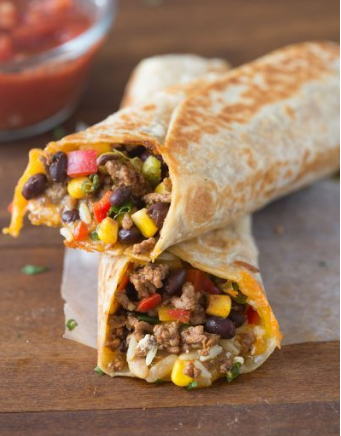 CRISPY SOUTHWEST WRAP #dinner #wrap #crispy #healthyrecipes #food
