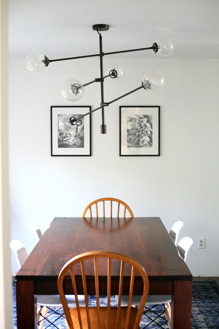 Affordable Decor And The Difference Lighting Makes Dining Room