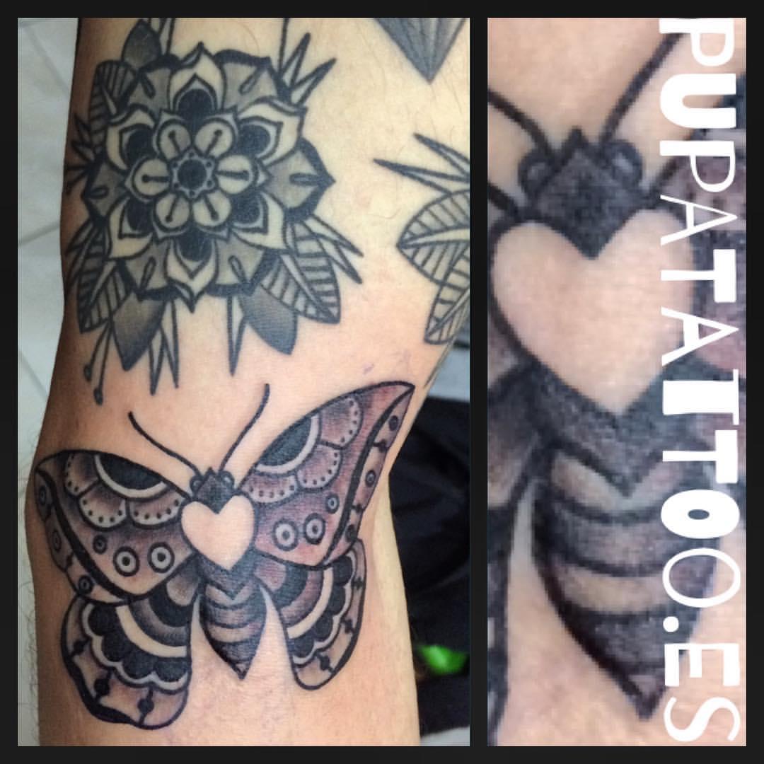 Tatuaje Y Piercing En Granada Tatuaje Mariposa Tradicional Pupa