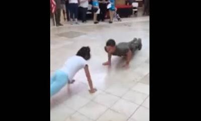 ΕΚΑΝΕ ΤΟ ΜΑΓΚΑ στα push -ups και ξεφτιλίστηκε από ένα κοριτσάκι❗ 〝ΒΙΝΤΕΟ📹〞