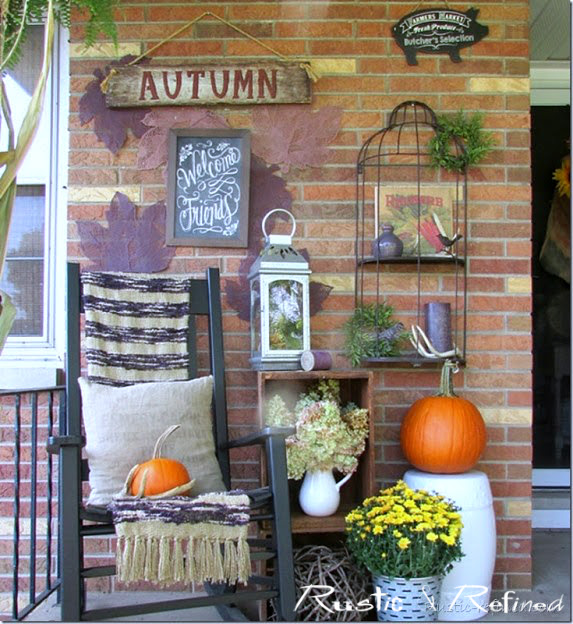 The Best Porches decorated for Fall