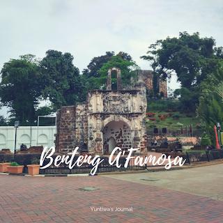 tempat wisata menarik di Melaka - benteng afamosa