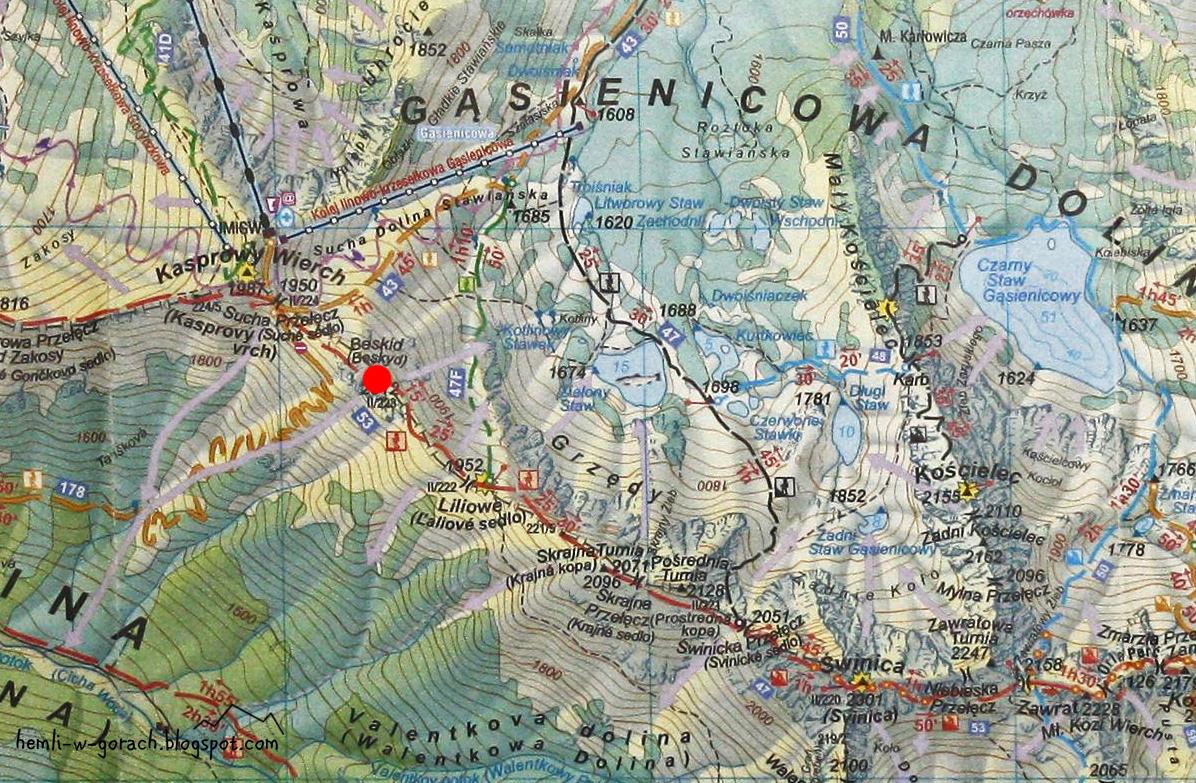 Beskid na mapie