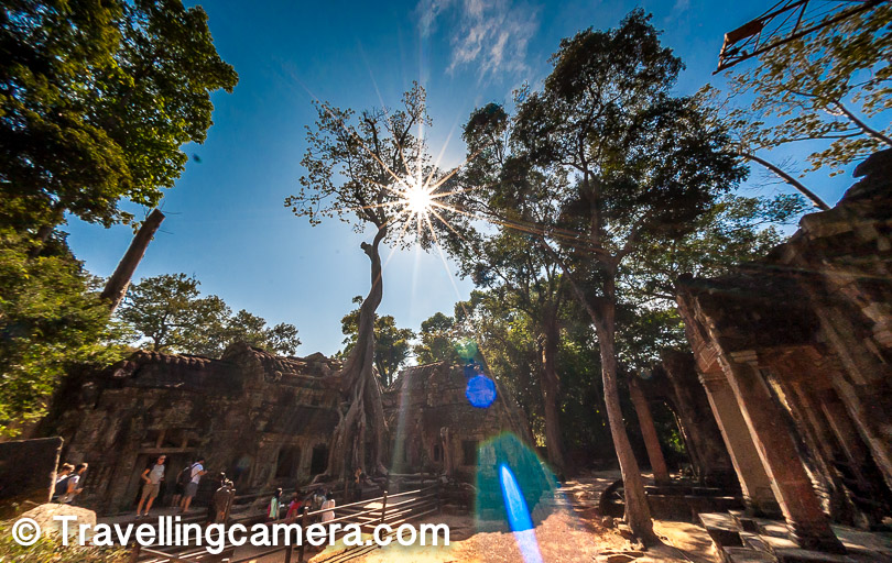 Sun at Angkor Wat was harsh but the forest around these temples keep the temperature a little balanced. Above is the favorite star effect shot by my TravellingCamera.