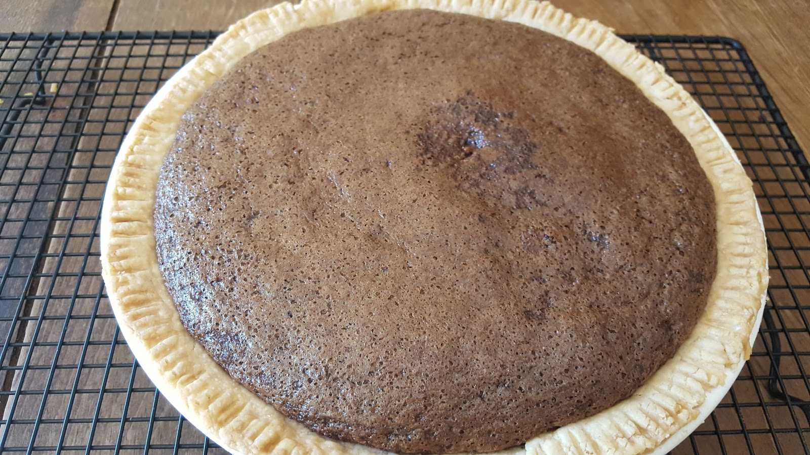Chocolate Chess Pie Is Done