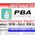 Job Vacancy at PBA - Perbadanan Bekalan Air Pulau Pinang