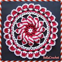 http://bellacrochet.blogspot.com/2015/12/peppermint-pinwheel-doily-free-crochet.html