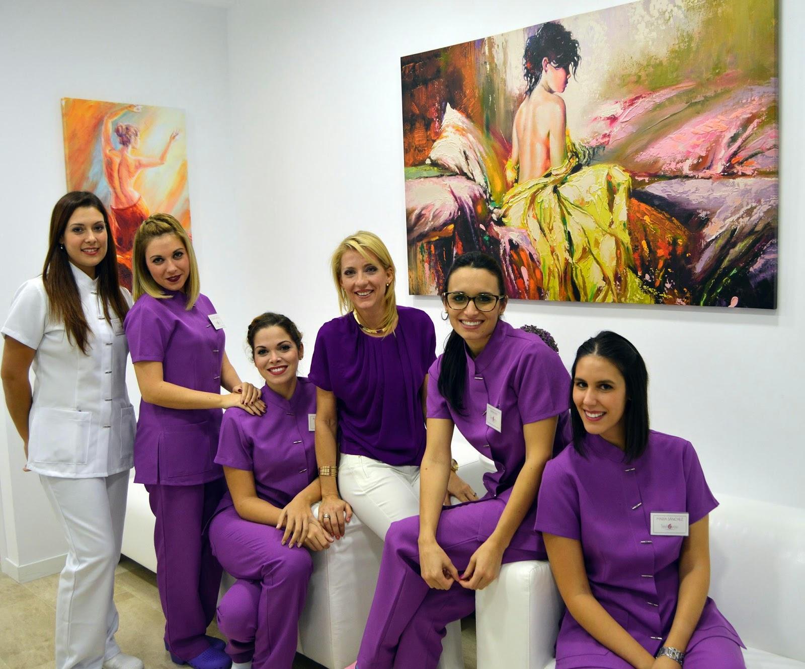 personal del centro de estética de Sevilla