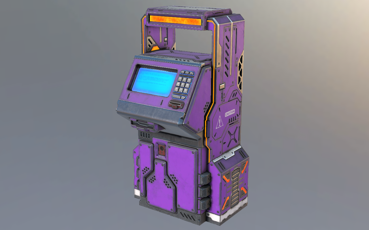 Atm Free 3d Model – Dibujos Para Colorear