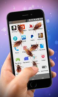 Kecoa di layar handphone