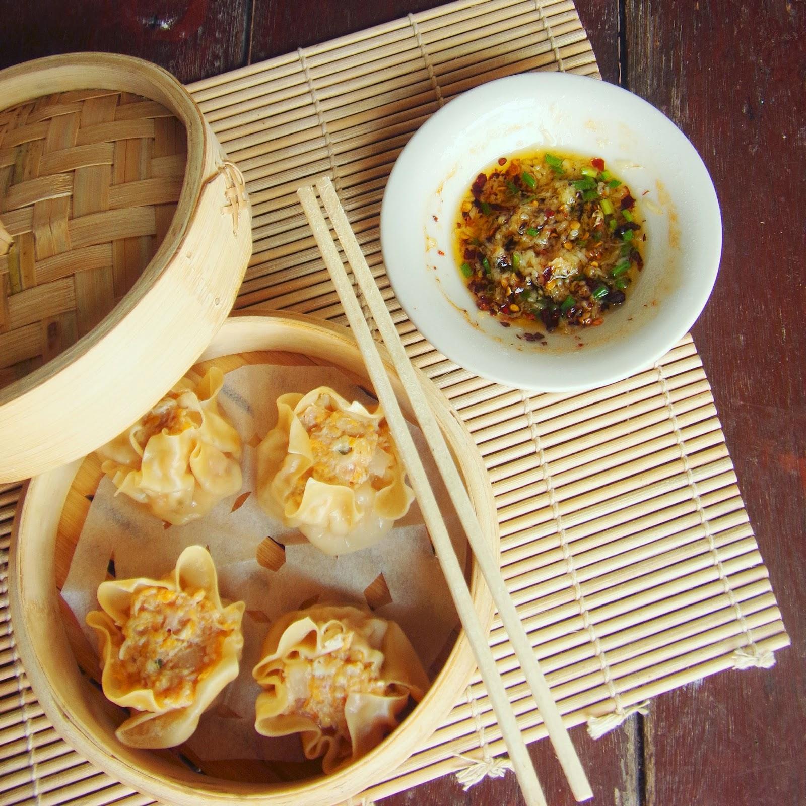 Pork Shrimp and Crab Dumpling Siu Mai or Siomai