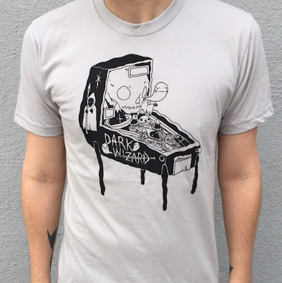 Dark Wizard Pinball T-Shirt by Deth P. Sun
